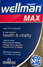 Vitabiotics Wellman max health & Vitality omega & Calcium 84 Tablets Vit. D Tabs