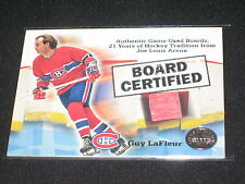 GUY LAFLEUR CANADIENS 2001 FLEER CERTIFIED AUTHENTIC HOCKEY JERSEY CARD RARE