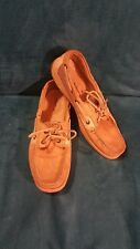 Women's Sperry Top-Sider Bluefish 2 Eye Tan Leather Boat Shoes Size 10 M
