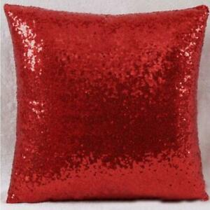 40cm Glitter Solid Sequin Sofa Throw Pillow Cover Lounge Cafe Decor Cushion Case