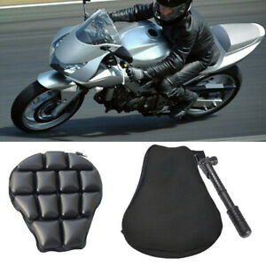 Riding Motorcycle Seat Non-slip Inflatable Cushion Cover Mesh Air Pad Boom AU ..