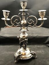 large 16 inch Russian or polish silver candelabra sabbath dated 1888 markings