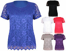 Lace Short Sleeve Blouses for Women