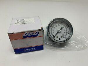 """USG Ametek Pressure Gauge 2"""" P844UK 0-7Kg/CM2 / 0-100PSI SPEC 167251A 1/8NPT CBM"""