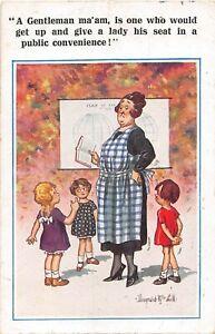POSTCARD  DONALD MCGILL  TEACHER - PUPILS - GENTLEMAN - PUBLIC CONVENIENCE
