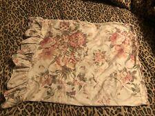 "Vintage Ralph Lauren GUINEVERE Floral Standard Pillowcase W/Ruffle 29.5"" x 20"""