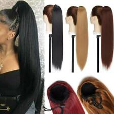 Yaki For Human Real Soft Ponytail Drawstring Pony Tail Hair Extension Clip in US