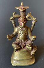 Antiquitäten & Kunst Ganesha Ruht Auf Einem Kissen Patinierter Messingguss