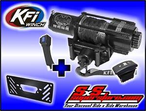 New KFI 3500 lb Stealth Edition Winch /& Model Specific Mounting Bracket 2011-2014 Arctic Cat Prowler 700 XTX UTV