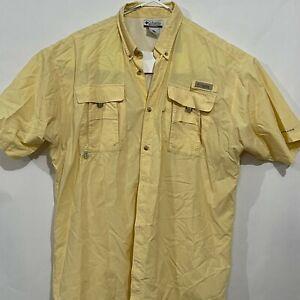 Columbia PFG Short Sleeve Vented Button Up Shirt Mens Size XLT