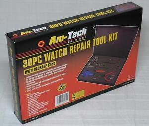 Am-Tech 30 Piece Watch Repair Tool Kit Amtech