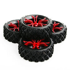 4pcs 1:10 RC Rally Racing Off Road Car Rubber Tires & Wheel Rim Set Fit HSP HPI
