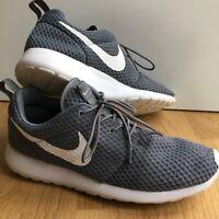 Nike Roshe Run One BR Trainers Cool Grey & White 8.5/43 Running Gym Shoe