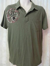 LUCKY BRAND POLO RUGBY Vintage Inspired Green Medium TEE