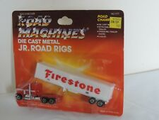 Road Mahines Die Cast Metal Jr. Road Rigs - Firestone - New