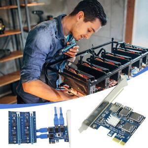 PCI-E USB3.0 Multiplicateur de Port Express PCIe 1 à 4 PCI-E pour BTC Miner