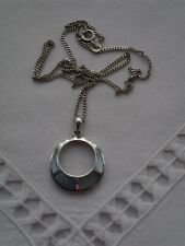 BEAUTIFUL SILVER & ABALONE SHELL PENDANT