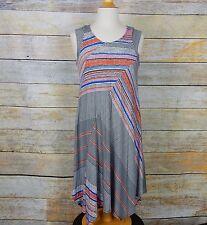 PREMISE Womens Size XL Extra Large Sleeveless Stripe knit stretch dress $78 NWT