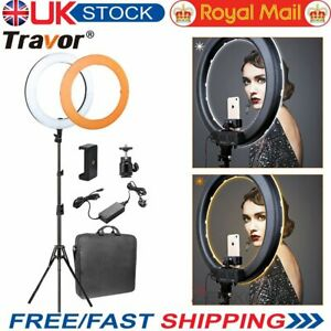 """Travor 18"""" LED Ring Light Dimmable 5500K Continuous Lighting Camera Photography"""