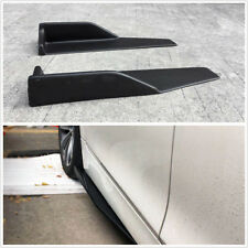 Universal 2PC Car Side Skirt Rocker Splitters ABS Wings Canard Diffuser Shovel