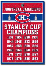 """Montreal Canadiens Stanley Cup Champions Fridge Magnet Size 2.5"""" x 3.5"""""""