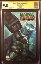 MARVEL ZOMBIES RESURRECTION #1 CGC SS 9.8 BROWN VARIANT THOR SPIDERMAN WOLVERINE