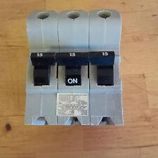 Fpe Stab-Lok NBPH315 15 amp 3 pole 240 volt bolt on High interruption 22KA Rare