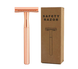 Eco-Friendly Rose Gold Safety Razor for Shaving - Heavy, hardwearing Razor eeyko