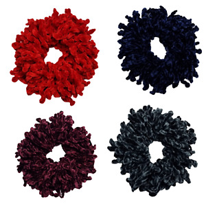 New Velvet Hijab Hair Scrunchie Big Tie Bun Volumising Scarf Volume Bobble