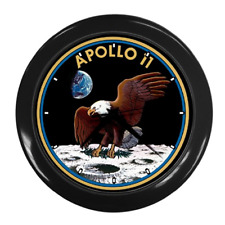 APOLLO 11 INSIGNIA BADGE WALL CLOCK **SUPERB ITEM**