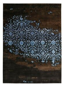 New Broken Design 5'7''x7'10'' ft Wool & Silk Hand Knotted Area Rugs & Carpet