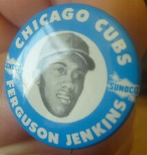 NOS DOUBLE DIE 1969 70 Ferguson Jenkins SUNOCO Chicago Cubs MLB pin-back button