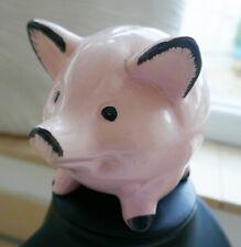 Antike Skulptur Sammlerstück Ferkel Glücksschwein Schwein Spardose Sparschwein