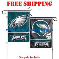 "Philadelphia Eagles Logo Garden Outdoor Flag Double Sides 12x18"" NFL 2019 NEW"