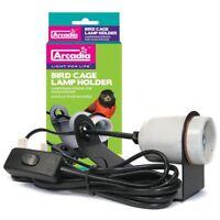 Arcadia Bird Lamp Holder 20W, E27 for Compact Fluorescent Cage Light Bulb (ADBH)
