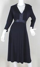 "BLUE BEADED DRESS SATIN WOMENS FASHION ""JESSICA HOWARD"" SIZE (14)"