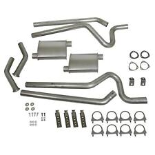 "Summit Exhaust System Header-Back 2.50 "" Split Rear Exit Steel Ford Mustang"
