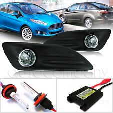 For 2014-2017 Ford Fiesta Light Kit w/Wiring Kit & HID Kit - Clear
