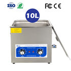 10L Liter Ultrasonic Cleaning Equipment Heated Machine Heater Stainless Steel