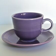 Tea Cup and Saucer Fiestaware Lilac Purple Fiesta Limited Edition 1990's