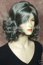 Black with 65% Silver Grey Wig for Elder Ladys / Brilliant Fibre Great Quality