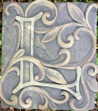 L Stone, plaque, stepping stone,  plastic mold, concrete mold, cement, plaster