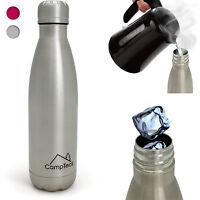 500ml Botella Agua Térmica De Acero Inoxidable Termo Bebidas Deporte Cámping