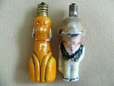 Andy Gump and Pluto (?) Vintage Christmas Lightbulbs