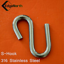 316 Stainless Steel S-Hook For Shade Sail ,Tent Boat Camping Outdoor 8mm