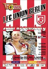 II. BL 2003/04 1. FC Union Berlin - SSV Jahn Regensburg, 05.10.2003
