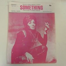 song sheet SOMETHING Shirley Bassey, 1969
