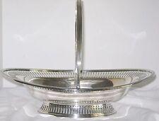 Silverplate Vintage Pierced Oval Basket Thomas Wilkinson England 1920s Silver