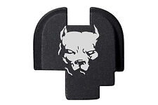 For Springfield Armory XDS 9mm .40 .45 Rear Slide Plate BLK Dog Pitbull