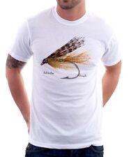Pesca Con Mosca de salmón, trucha Día Del Padre Papá Impreso Camiseta fn9465